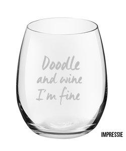 Glazenset ´Doodle and wine`